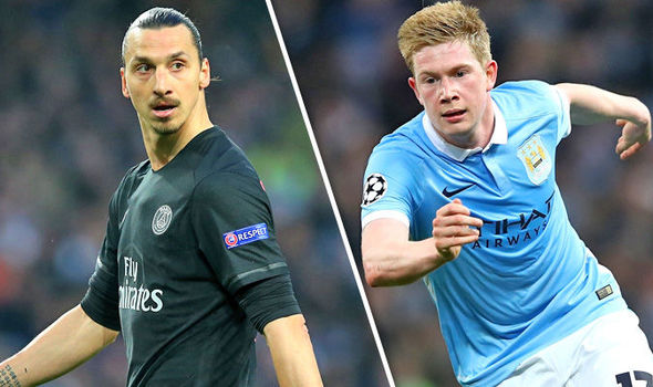 kevin de bruyne and zlatan ibrahimovic